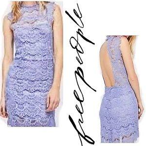 New Free People Lavender Lace Body-Con Dress MED